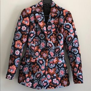 0 Theory Floral Riding Jacket Blazer